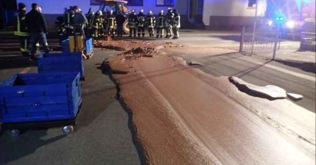German Street Gets Paved with Chocolate After Candy Factory Accident