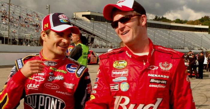 """Jeff Gordon Says """"Greatest Day of My Life"""" Was Dale Earnhardt Jr. Fans Throwing Beer at Him"""