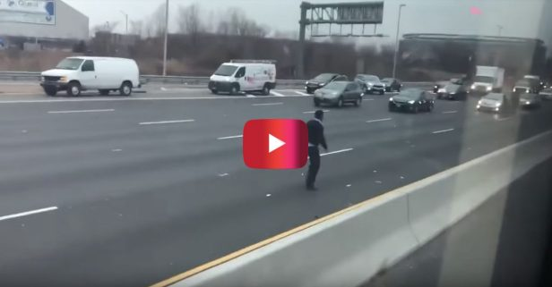New Jersey Rush Hour Traffic Turns to Frantic Cash Grab Following Truck Crash