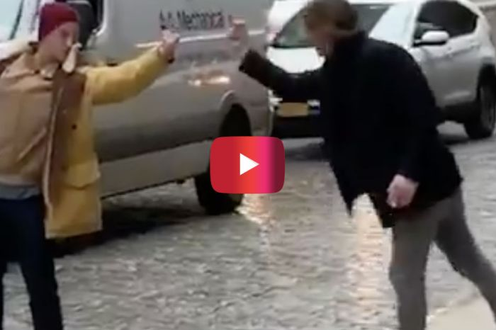 This Is the Most Ridiculous Middle Finger Fight You'll See