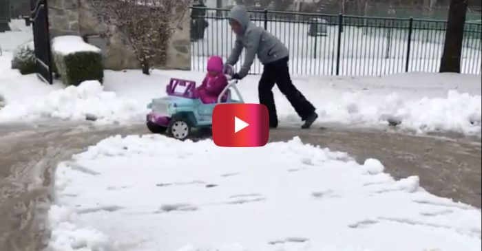 NASCAR Drivers in Charlotte Take Advantage of the Snow by Having Some Fun Outdoors