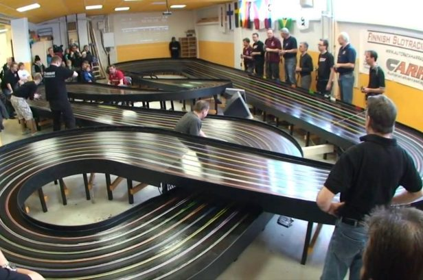 High-Speed Slot Cars Race for Glory in Championship Contest