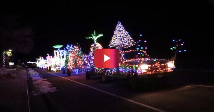 Utah Man Drives Christmas Light Display on Wheels Through Town