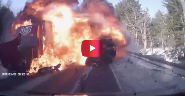 Dashcam Footage Captures the Terrifying Moment a Head-on Crash Ended in a Fiery Explosion