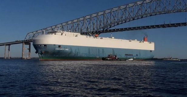 5 Crewmembers Feared Dead After Cargo Ship Carrying 3,500 Cars Catches Fire