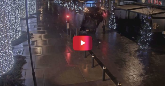Security Footage Shows Extreme Drunk Driving Crash in Belgium