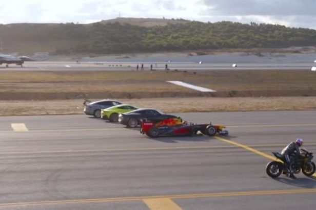 Kawasaki Ninja Beats Fighter Jet, F1 Car, and Souped-up Tesla in Drag Race