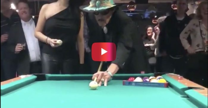 "Richard Petty's Epic Pool Trick Shot Shows Why He's Also ""The King"" of Billiards"