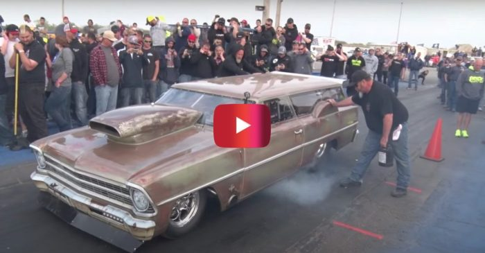This Chevy Nova Wagon Is a Nitrous-Fueled Dragster