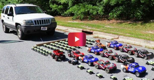 How Many Toy Cars Will It Take to Pull a Jeep Grand Cherokee?