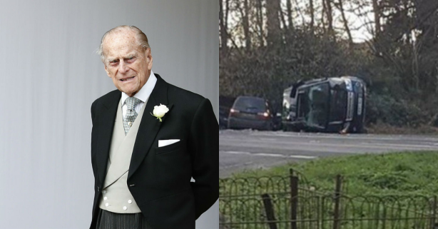 Prince Philip, Husband of Queen Elizabeth II, Involved in Car Accident That Overturned Range Rover