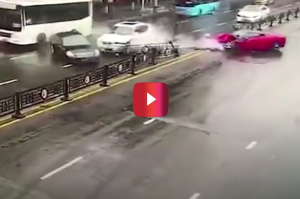 Woman Rents a Ferrari, Then Crashes It Into Oncoming Traffic Minutes Later