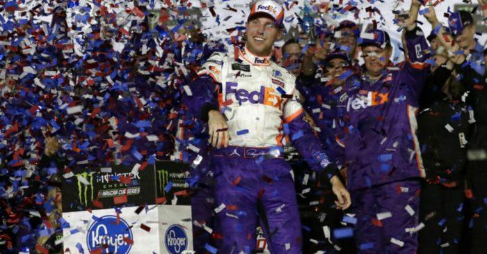 Denny Hamlin Wins Wreck-Filled Daytona 500