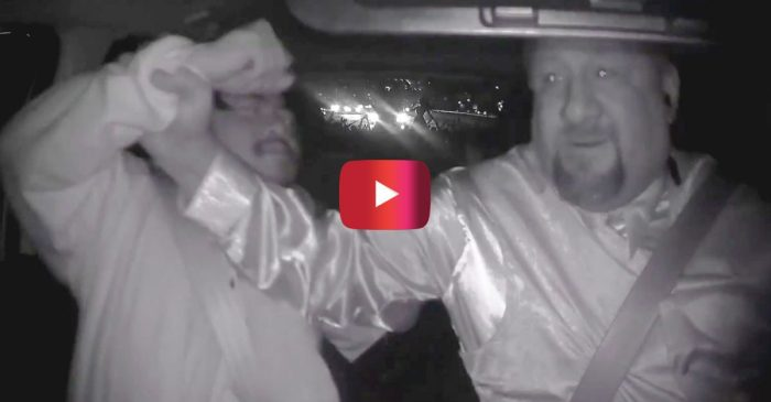 Crazy Video Shows Drunk Man Trying to Grab Wheel from Uber Driver