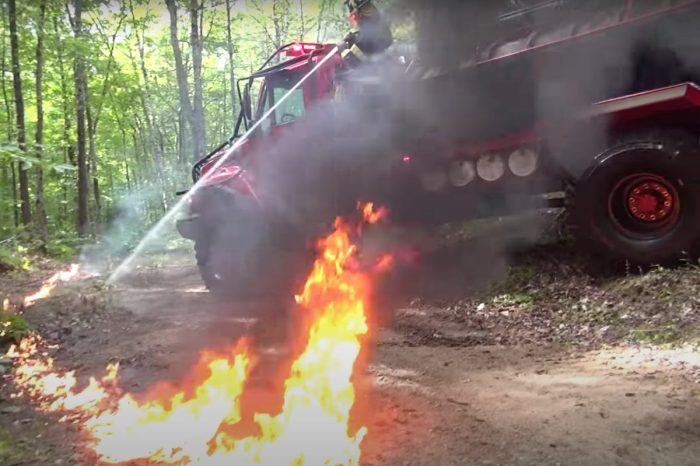 Extreme Brush Truck Has 54-Inch Military Tires and Can Carry 2,000 Gallons of Water