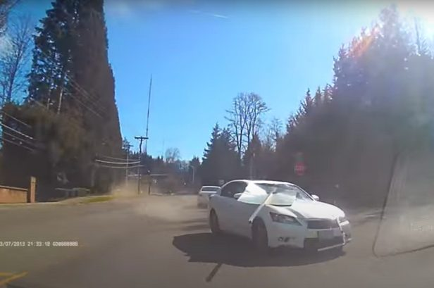Speeding Car Avoids Head-on Collision by Mere Inches