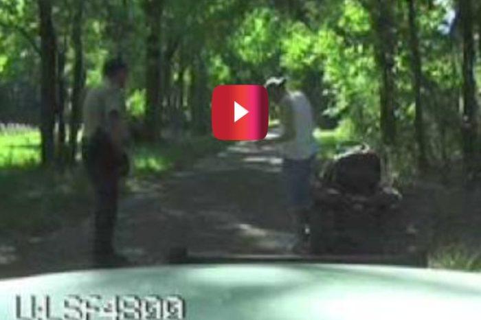 Redneck Prankster's Dashcam Arrest Ends in a Tasing