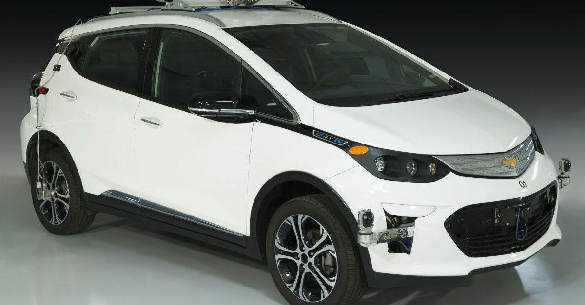 self driving test vehicle