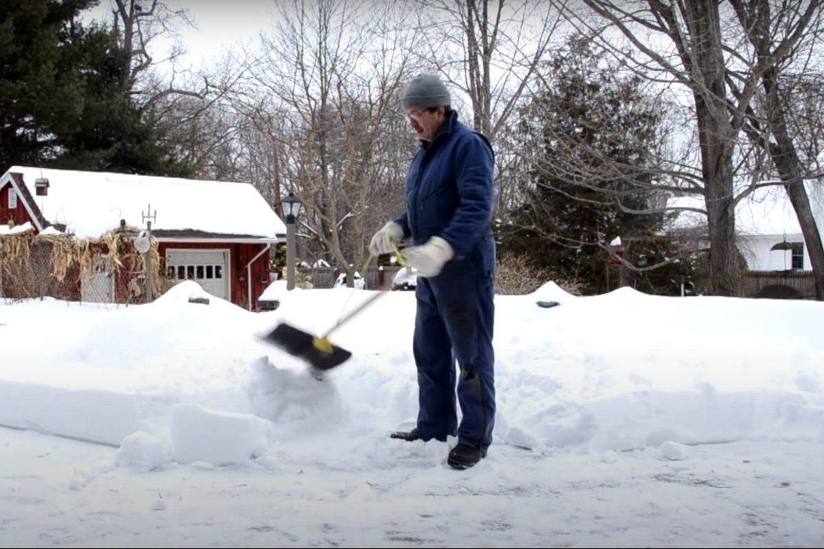 snow shoveling hack