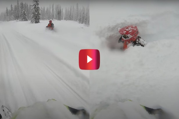 Snowmobiler Gets Swallowed by Several Feet of Snow