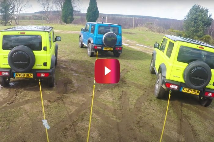 Mercedes G-Class Tests Its Might Against 3 Suzuki Jimnys in Tug of War
