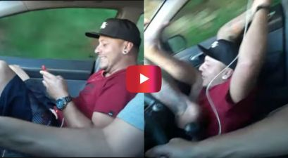 Driver Surprises Buddy With Ultimate Car Prank