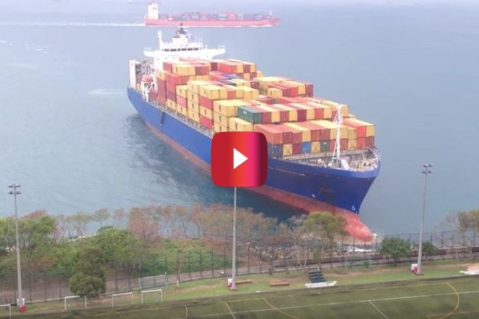 Massive Container Ship Nearly Plows Through Soccer Fields