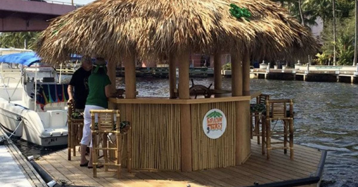 This Floating Tiki Bar is Your One-Way Ticket to Margaritaville