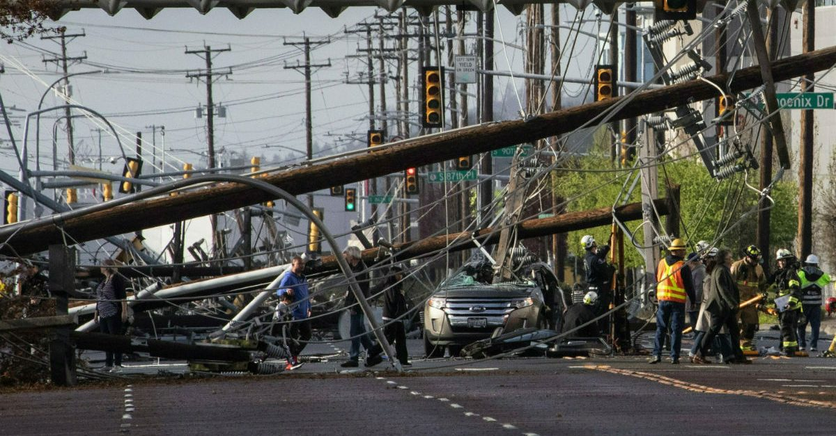 power line crash