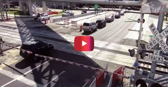 Train Smashes Into SUV in Intense Video