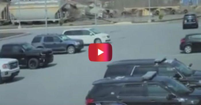 Surveillance Video Shows Shocking Train Derailment in Pennsylvania