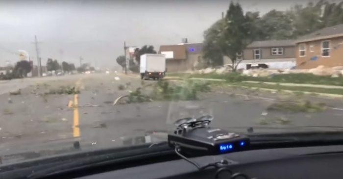 Driving Through This Utah Tornado Looks Like an Absolute Nightmare