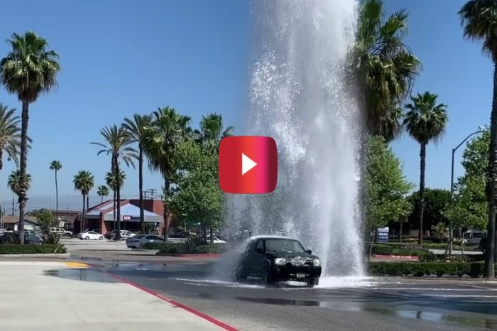 Broken Fire Hydrant Makes for Awesome Free Car Wash