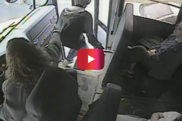 Video Shows Hero Bus Driver Saving Student from Potential Disaster