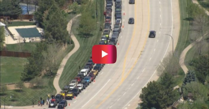 Hundreds of Jeeps Gather for Procession Honoring School Shooting Hero
