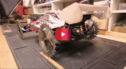 RC Car With Saw Blades Is No Kid's Toy