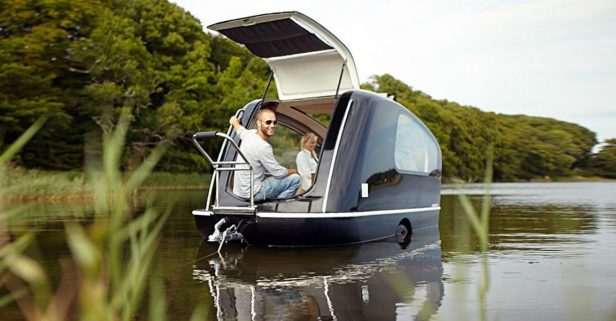 Sealander: The Floating Caravan That's Perfect for On-the-Water Glamping