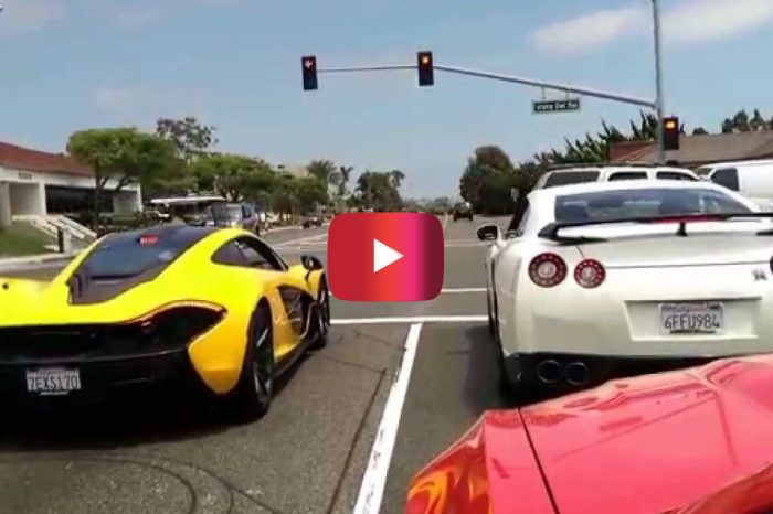McLaren P1 and Modified Nissan GT-R Wage War in the Streets