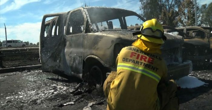 Raging Fire Sparked by Semi Burns 86 Cars in California Dealership