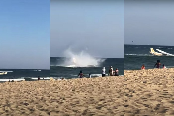 Emergency Plane Landing on Maryland Beach Caught on Video