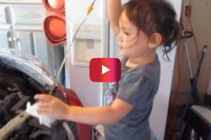 Girl Shows How to Do an Oil Change in Adorable Video
