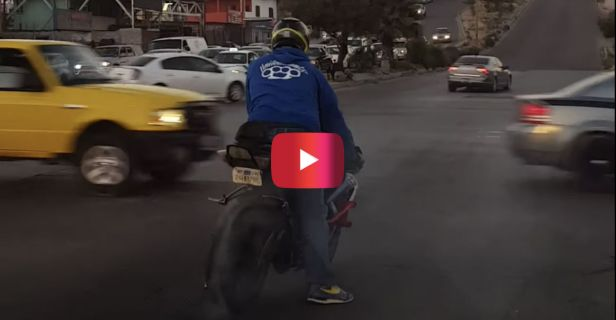 Showoff Biker Hungry for Attention Ends up Eating Pavement