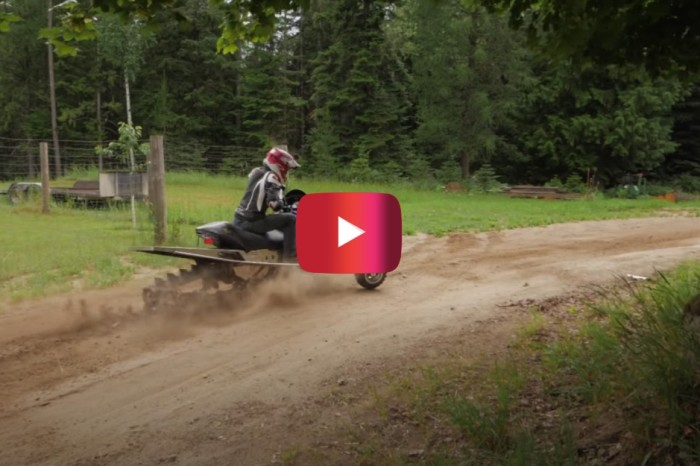Supercharged Snowmobile With Wheels Puts in Serious Off-Road Work