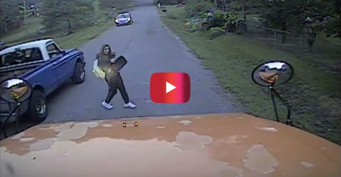 Girl BARELY Avoids Getting Hit by a Speeding Truck Thanks to Bus Driver's Quick Thinking