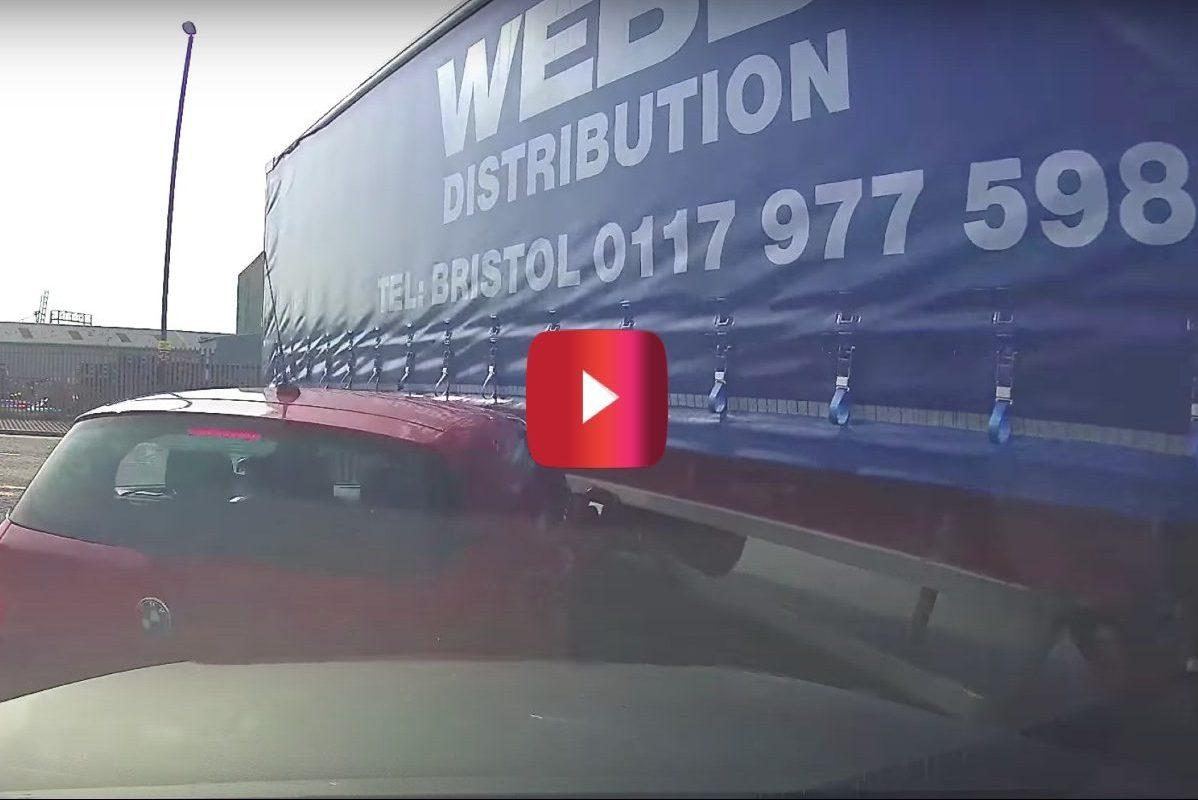 lorry driver takes out car