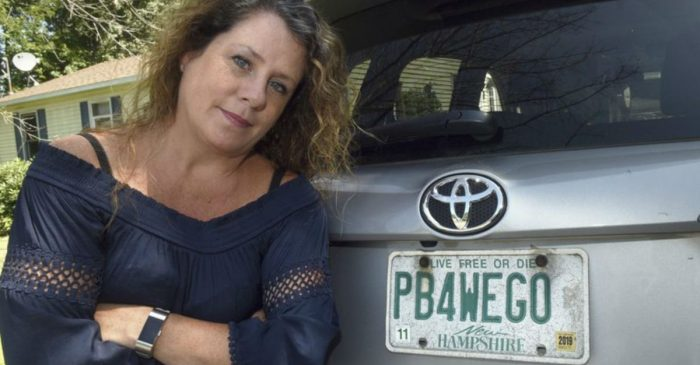 This New Hampshire Woman's Controversial License Plate Battle Made It All the Way to the Governor's Office