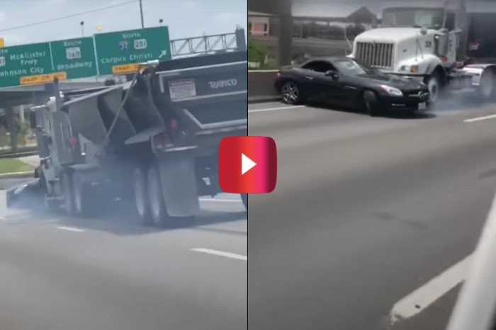 Semi Drags Car for a Whole Mile on Interstate Before Realizing It
