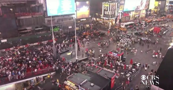 Motorcycle Backfiring Sparks Panic in Times Square After Mass Shootings