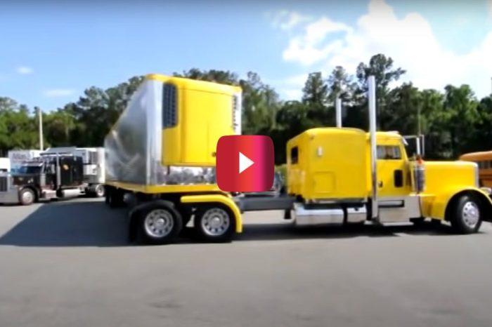 53-Foot Semi vs. Parking Space: Will Trucker Nail This Jackknife Maneuver?
