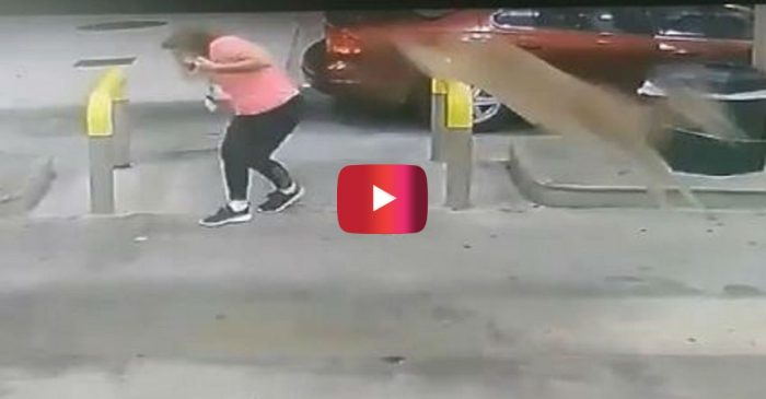 Deer Lord! Gas Station Video Shows Woman Get Kicked in Head by Leaping Deer